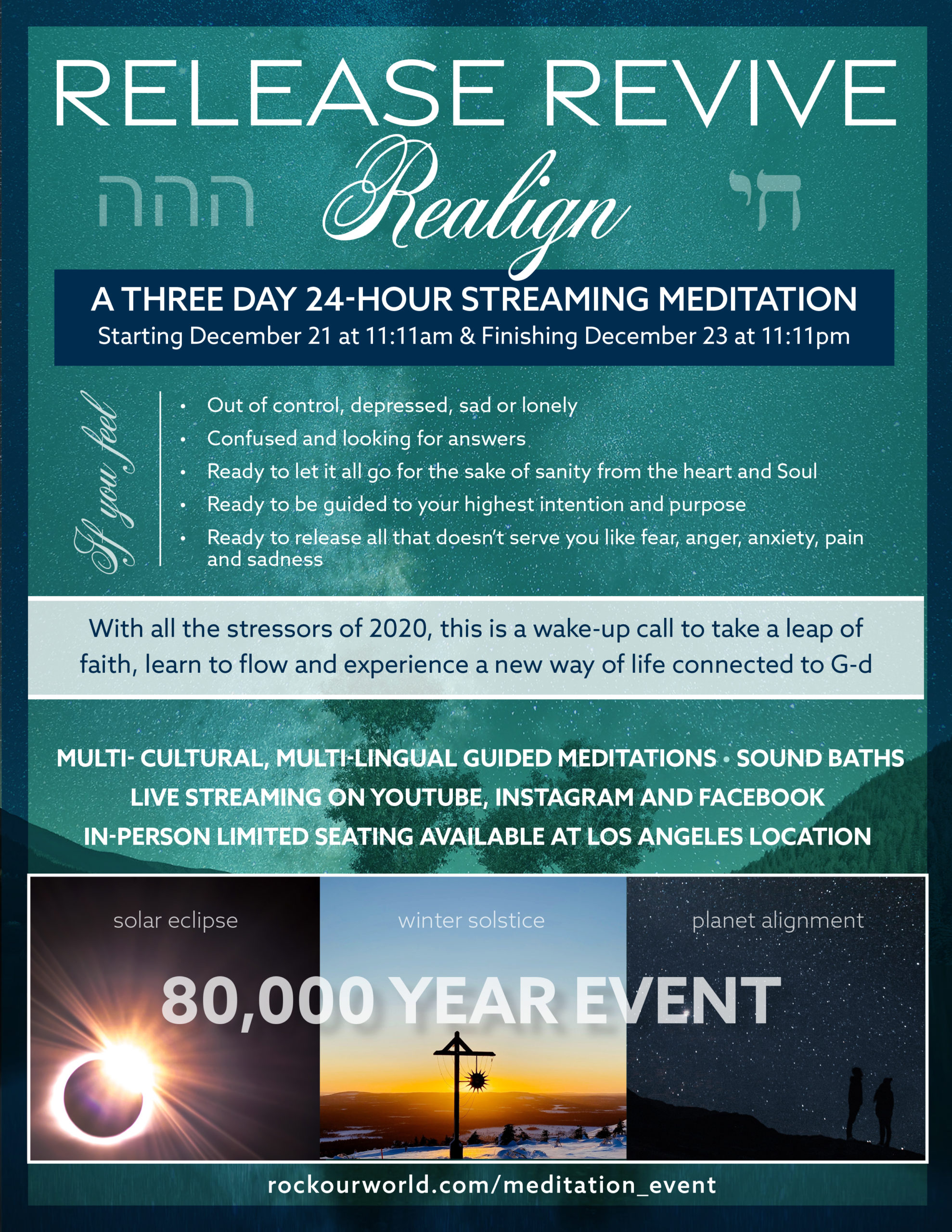 Release Revive Realign Streaming Meditation